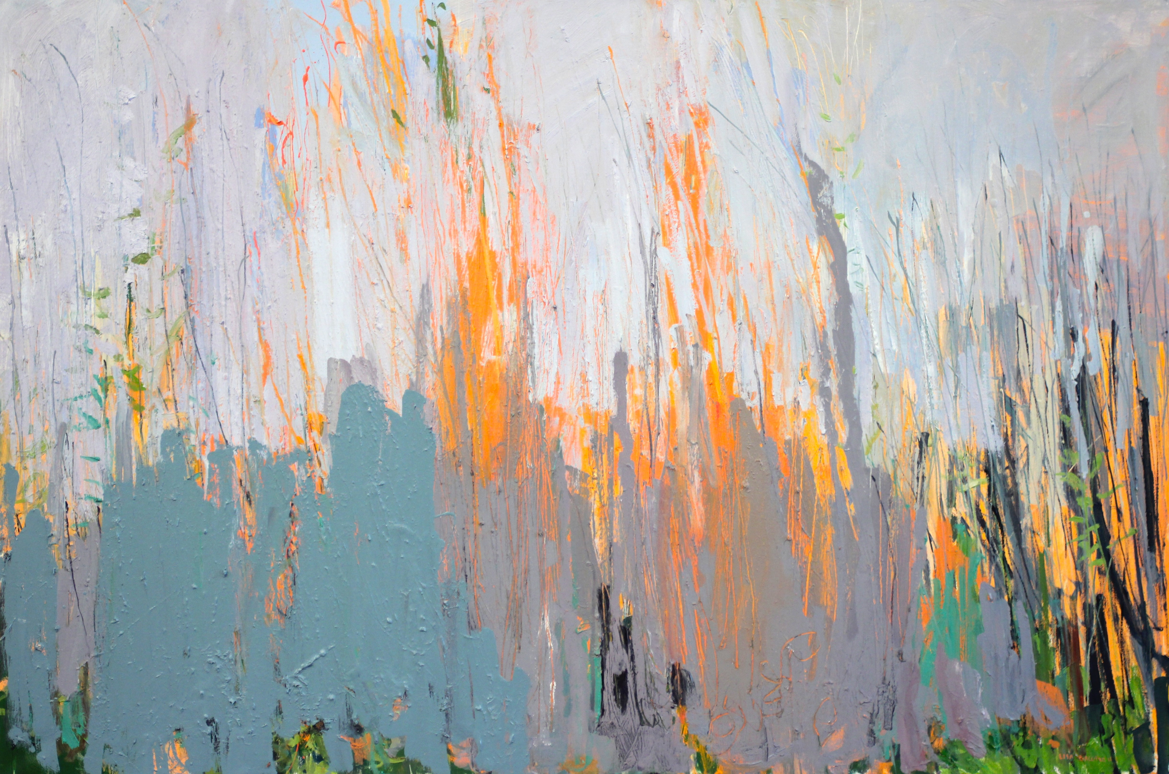 Orange Branches And Grey Sky Lisa Ballard
