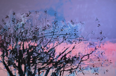 blossom tree in sunset 40 x 60in