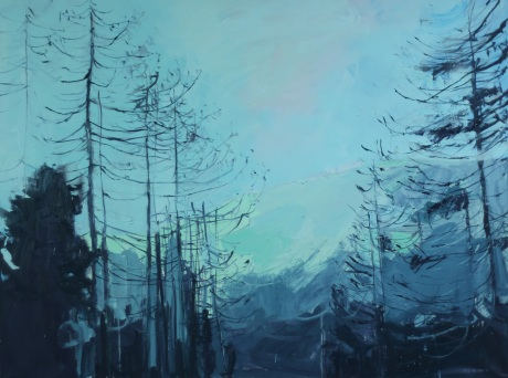 mountain and sky 36 x 48in