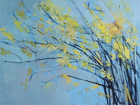 yellow blossom tree 36 x 48in
