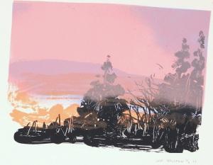 pink dusk hills