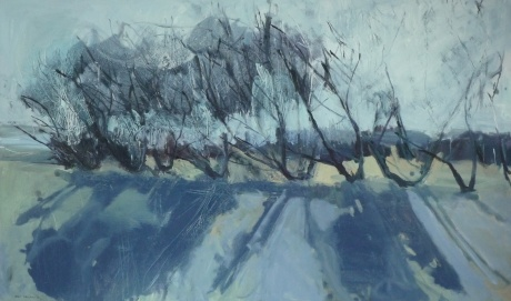 trees in frost 36 x 60in