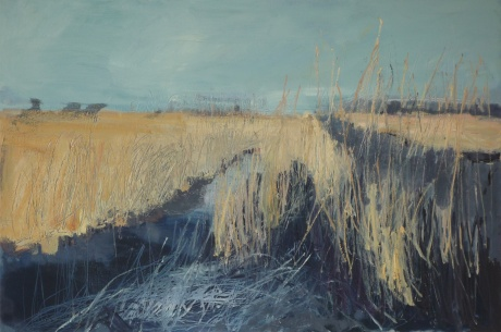 winter grasses 24 x 36in