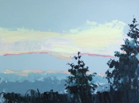 hills at dusk 36 x 48in