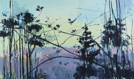 hills through the trees 36 x 60in