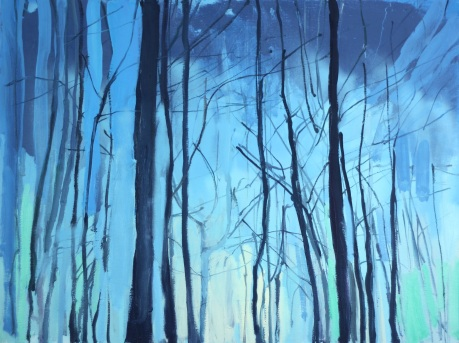 trees in light 30 x 40in
