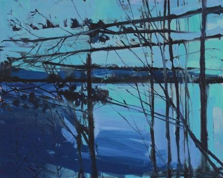 blue loch 80 x 100cm
