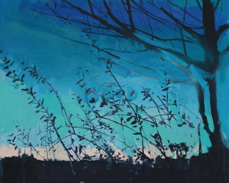 green twilight   80 x 100cm
