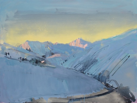 mountain glow 30 x 40in