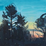 Dusk trees
