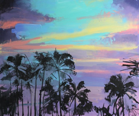 Purple tropical sea