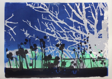 Twilight tree 50 x 70cm