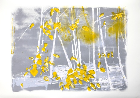 grey sky and atumn leaves 70 x 100cm