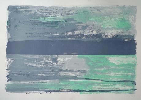 light on grey sea 70 x 100cm