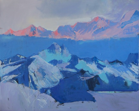 mountain tops  47 x 60in
