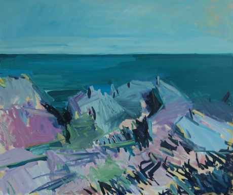 jagged rocks 39 x 47in