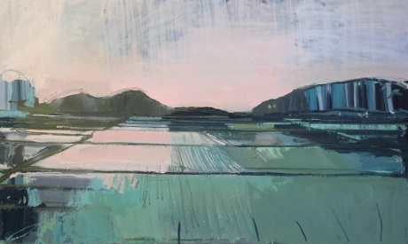 rice fields 36 x 60in