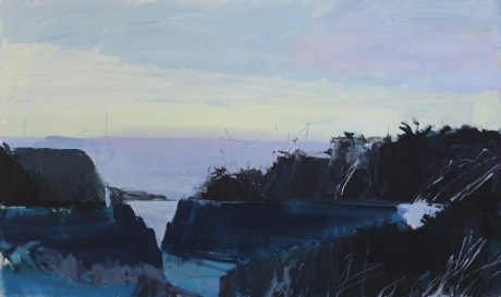 dark north coast rocks   36 x 60in
