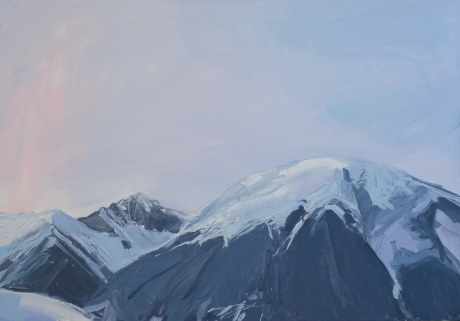 dusk mounatins   28 x 40in