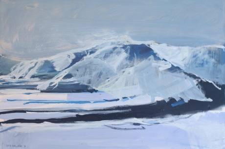 snow mountains 24 x 36in