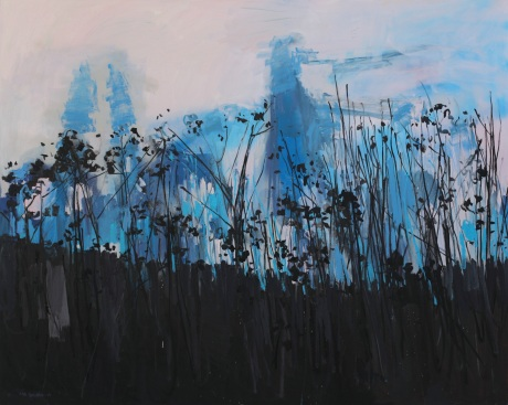 flowers and shadows 48 x 60in