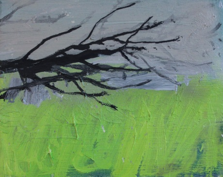 green and branch 8 x 10in