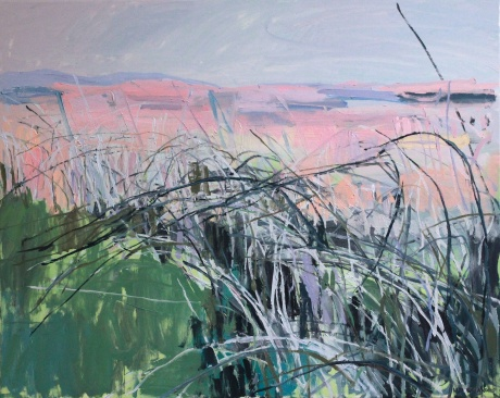 pink island 32 x 40in