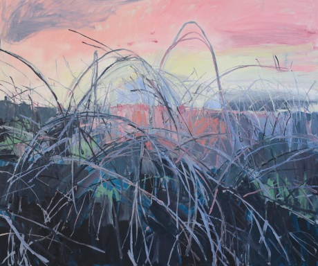 pale brambles   39 x 47in