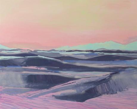 Striped White Sands 47 x 59in