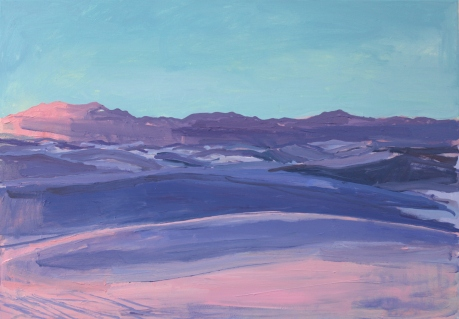 Pink light White Sands 27 X 39in