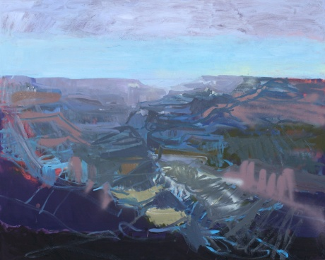Blue canyon 48 x 60in