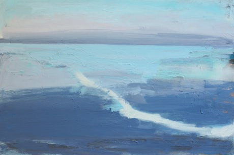 Pale sea 20 x 30in