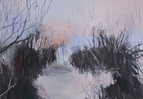 Winter island path 27 x 39in. 70 x 100cm