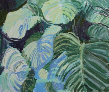 Orbifolia Calathea and shadows 100 x 120cm