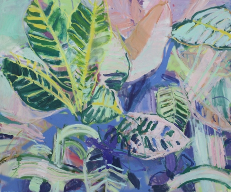 palm house leaves. 39 x 47in