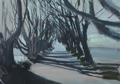 Dark hedges and shadows 70 x 100cm