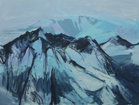 grey sky glacier 36 x 48in