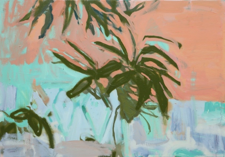 Marrakech wall and leaves 27 x 39in