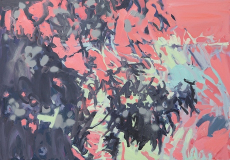 shadows on and green and pink. 28x 39in 70 x 100cm